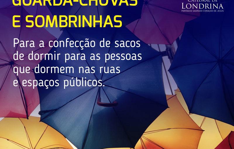 Arrecadação de Guarda-chuvas e sombrinhas