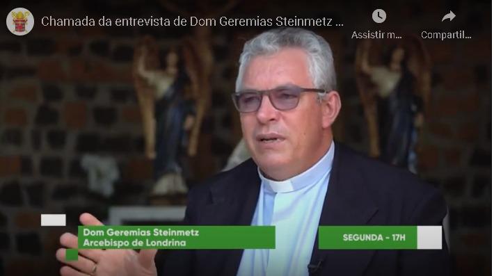 Dom Geremias participa do programa Bispos do Brasil da TV Evangelizar