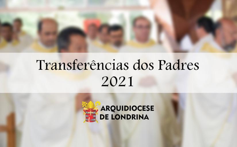 Transferências dos Padres para 2021