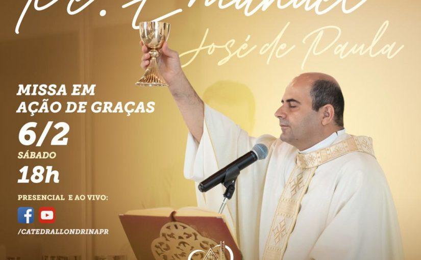 15º Aniversário de Ordenação presbiteral de Pe Emanuel José de Paula
