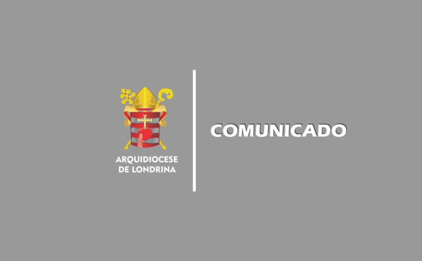 Comunicado sobre a pandemia da COVID-19 na Arquidiocese de Londrina